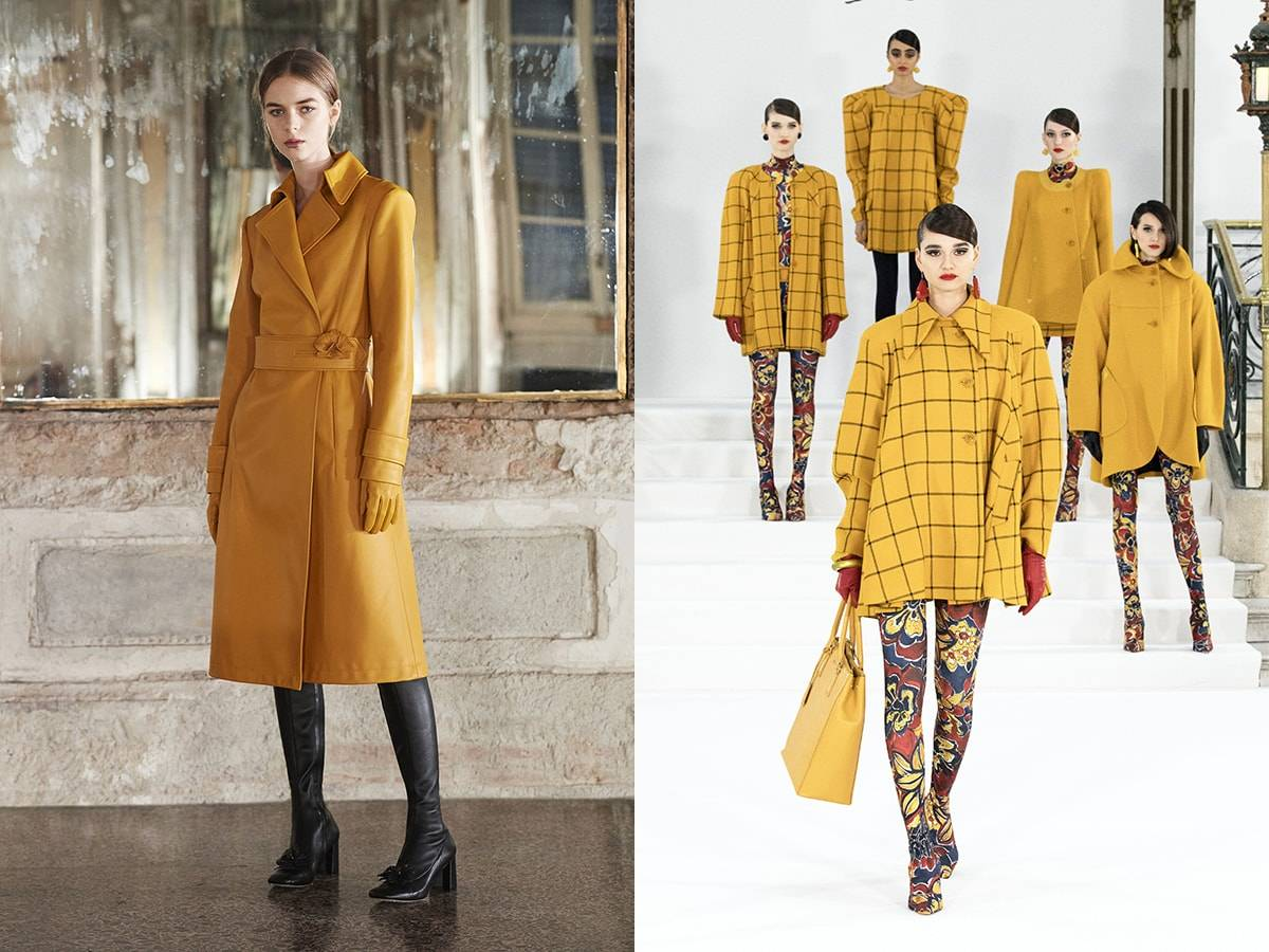 Gespot op de catwalk: Pantone's modekleuren FW21 London Fashion Week