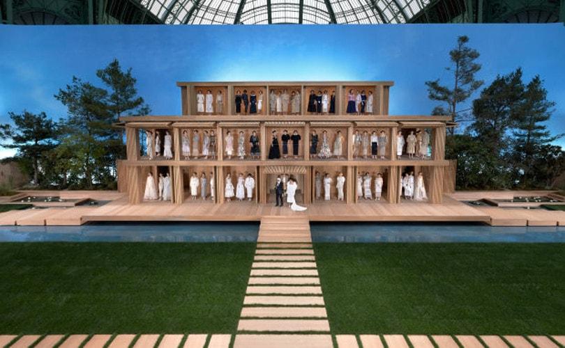 Haute couture  Chanel au naturel dans un jardin zen 44b5c903662