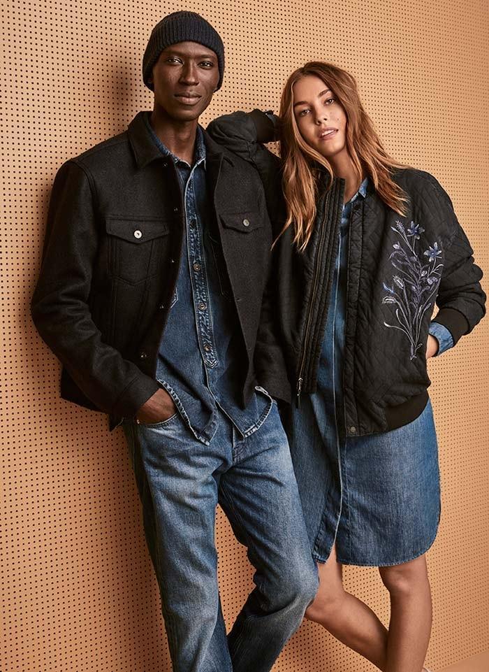 amp;m Des Coton En H Recyclé Jeans Lance f67ygb