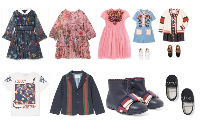Net-a-Porter stapt met Gucci in de kindermode